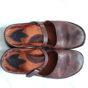 Born Shoes - Born Mahogany Brown Flat Mary Jane Shoes 10